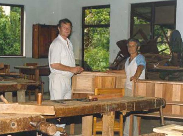 Aufbau der Schreinerwerkstatt